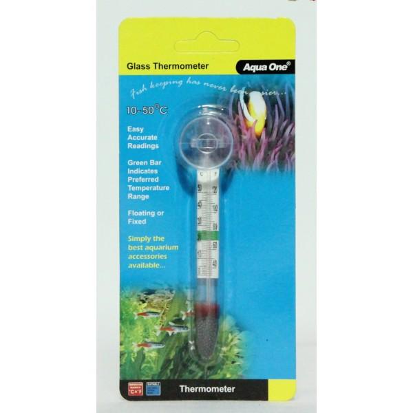 Aqua Glass Thermometer