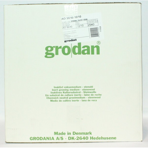 Grodan AO 36-40 Cubes Sheet of 98 Carton